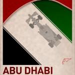 F1 Poster ABU DHABI by PJ