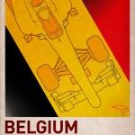 F1 Poster BELGIUM by PJ