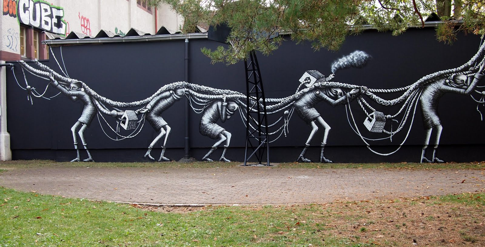 Nouvelle peinture murale par Phlegm – TRENDHUSTLER