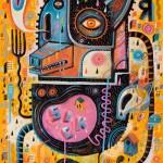 Désillusion | Oeuvre originale Acrylique & technique mixte ( + crayons et pastels à l'huile ) sur papier d'art 450gr. | 50x65 cm