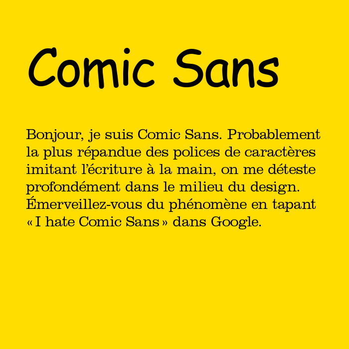 Comic sans la police qu'on aime détester