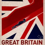 F1 Poster GREAT BRITAIN by PJ