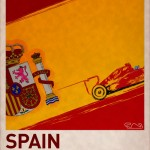 F1 Poster SPAIN by PJ